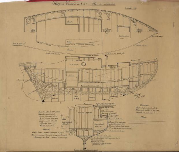 PLAN DE CONSTRUCTION - SLOOP DE CROISIERE 5,50 M (1933)