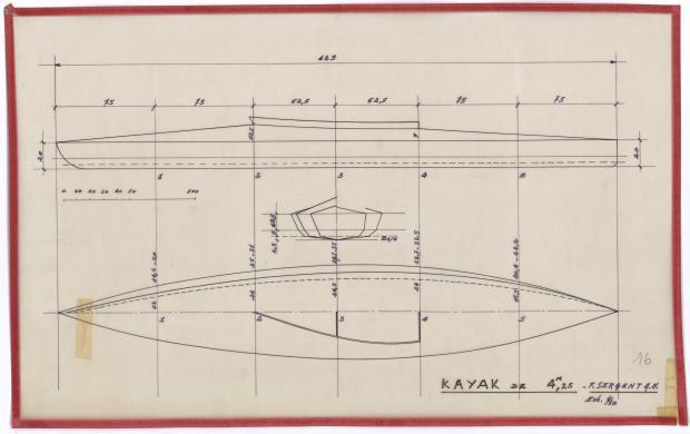 PLAN DE COQUE - KAYAK DE 4,25 M (1944)