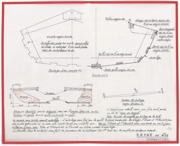 PLAN DE CONSTRUCTION - KAYAK DE 4,25 M (1944)