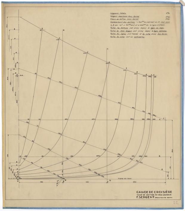 PLAN DE COQUE - CANOE DE CROISIERE (1945)