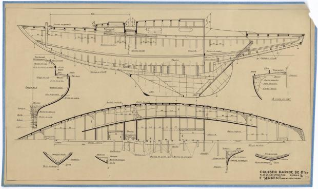 PLAN DE CONSTRUCTION - CRUISER RAPIDE DE 8,5 M (1946)