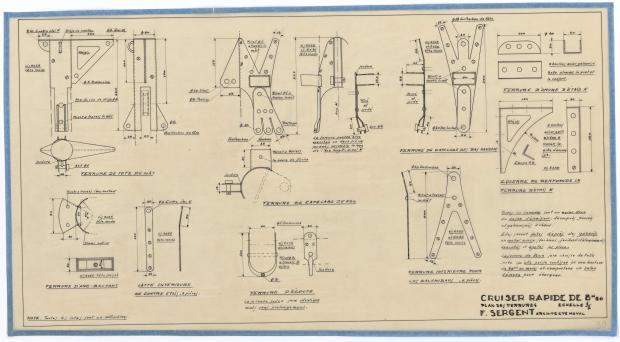 PLAN DE VOILURE/GREEMENT - CRUISER RAPIDE DE 8,5 M (1946)