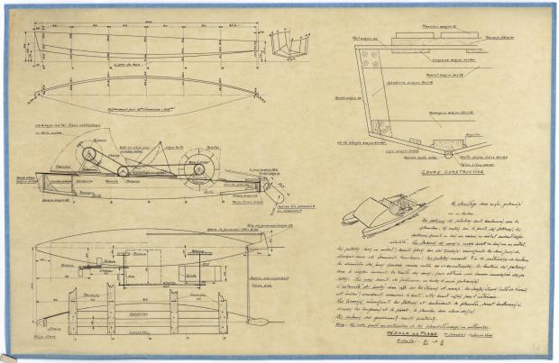 PLAN DE CONSTRUCTION - PEDALO (1946)