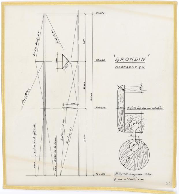 PLAN DE VOILURE/GREEMENT - GRONDIN (1946)