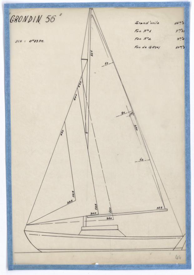 PLAN DE VOILURE/GREEMENT - GRONDIN 56 (1946)