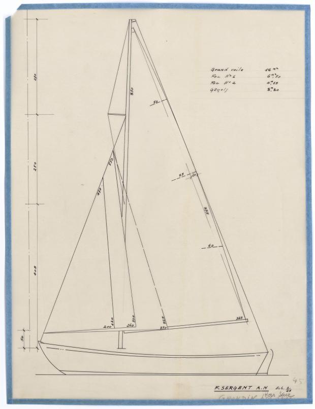 PLAN DE VOILURE/GREEMENT - GRONDIN HORS SERIE (1946)