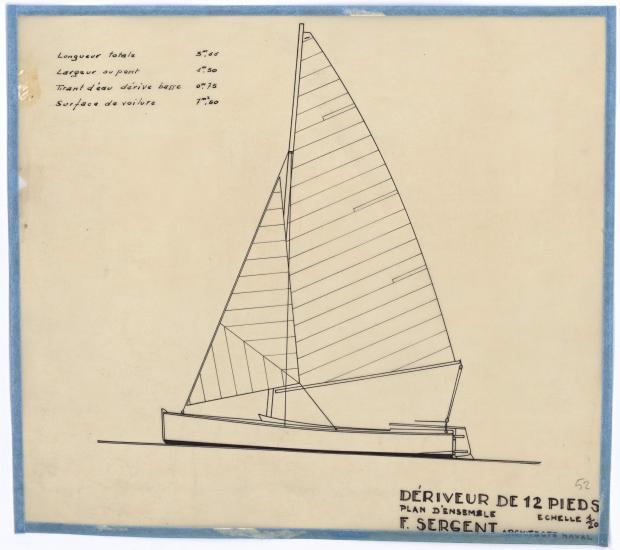 PLAN GENERAL - DERIVEUR DE 12 PIEDS (1946)