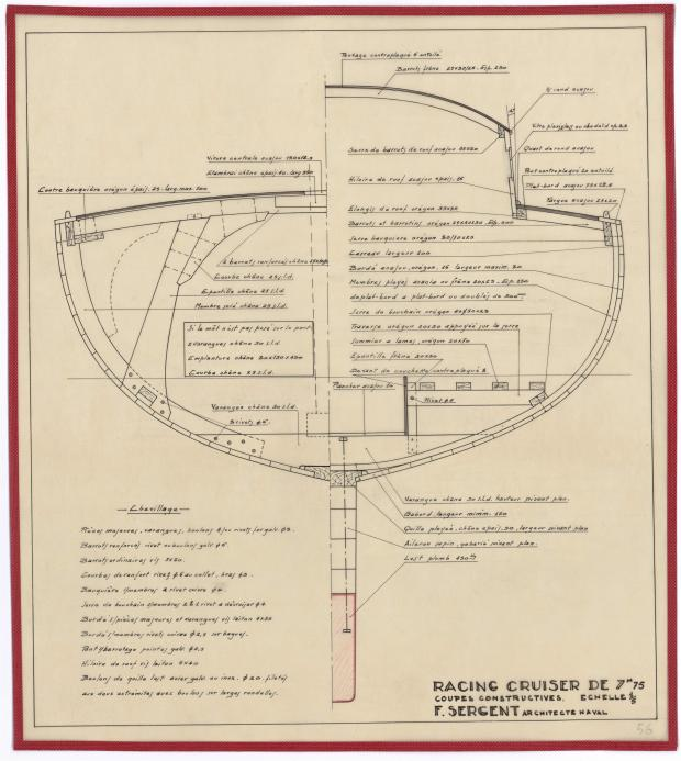 PLAN D'AMENAGEMENT  - RACING CRUISER (1946)