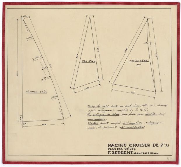 PLAN DE VOILURE/GREEMENT - RACING CRUISER (1946)