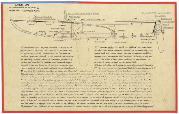 PLAN DE CONSTRUCTION - CANETON TRANSFORMATION (1947)