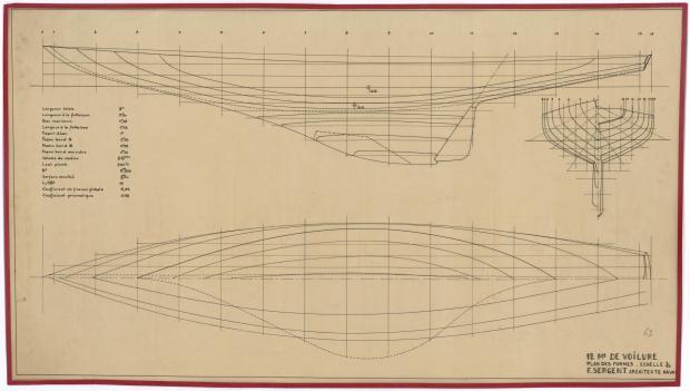 PLAN DE COQUE - 12M2 DE VOILURE (1947)