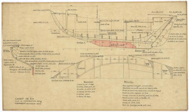 PLAN DE CONSTRUCTION - CANOT DE 5 M (1947)