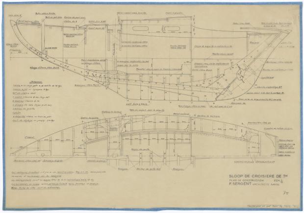 PLAN DE CONSTRUCTION - SLOOP DE CROISIERE DE 7M (1947)