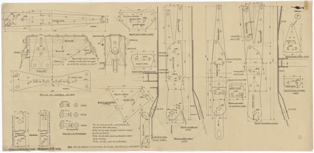 PLAN DE VOILURE/GREEMENT - NARVAL (1948)