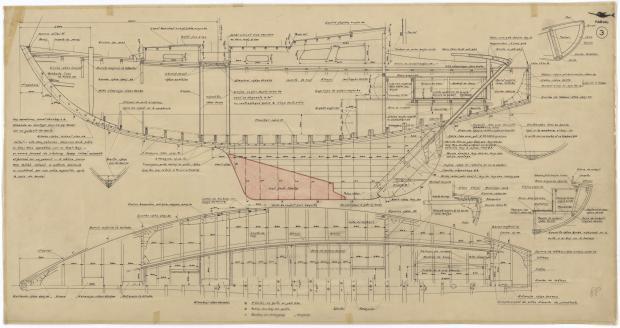PLAN DE CONSTRUCTION - NARVAL (1948)