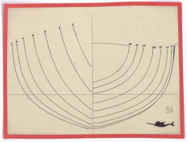 PLAN DE COQUE - NARVAL (1948)