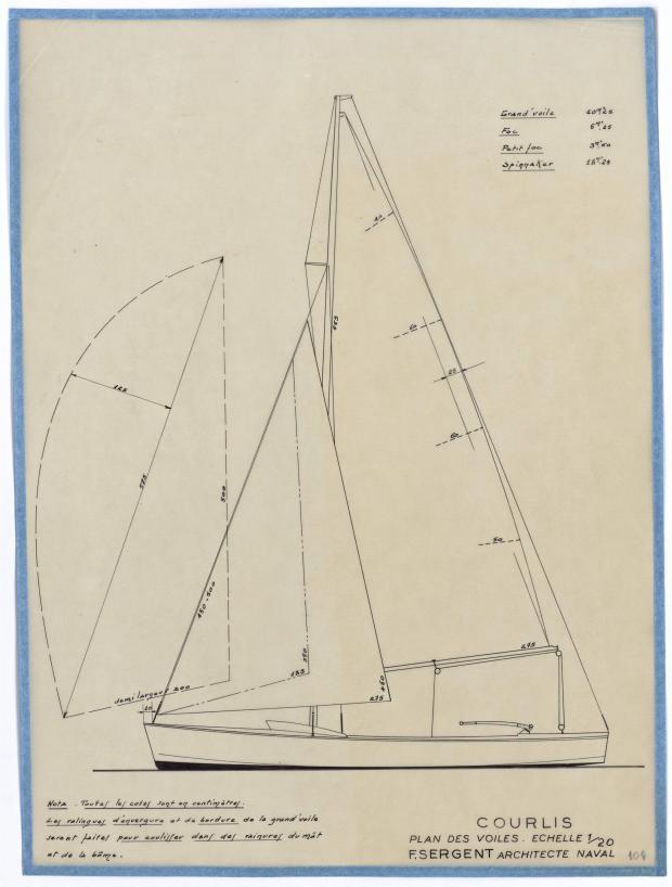 PLAN DE VOILURE/GREEMENT - COURLIS (1948)