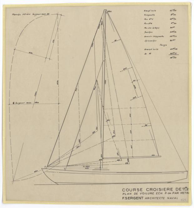 PLAN DE VOILURE/GREEMENT - ELOISE (1949)