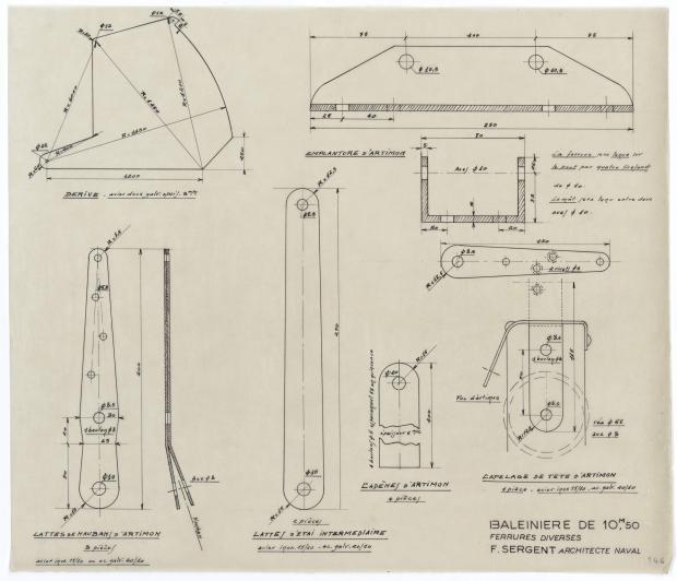 PLAN DE VOILURE/GREEMENT - OUF (1950)