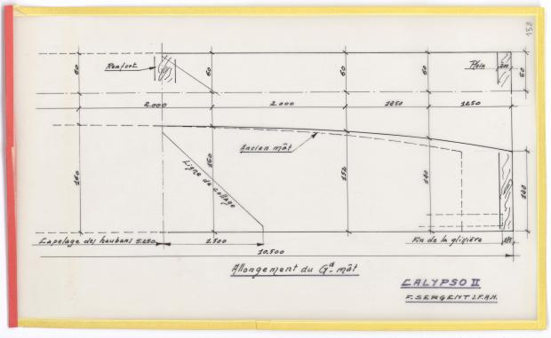 PLAN DE VOILURE/GREEMENT - CALYPSO (1950)