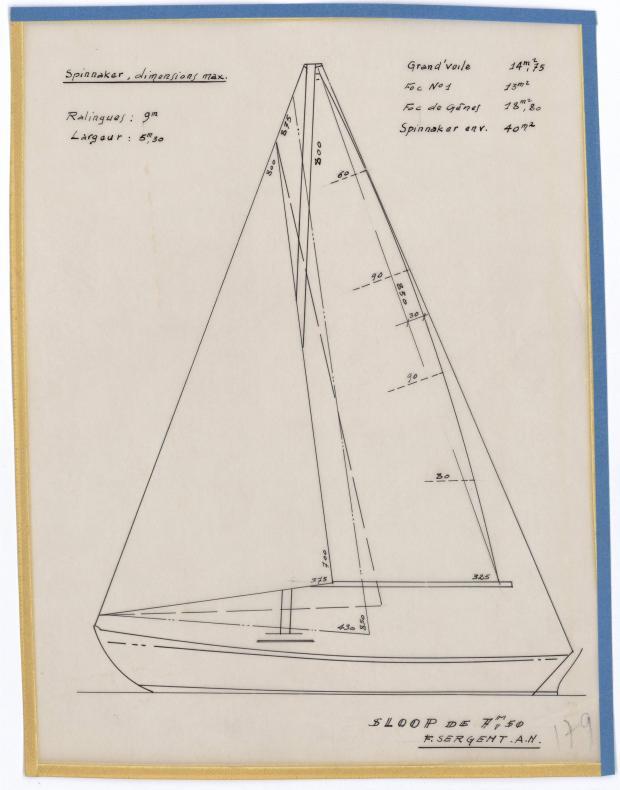 PLAN DE VOILURE/GREEMENT - SPRAY (1950)