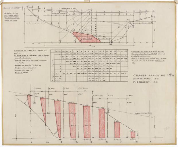 PLAN DE CONSTRUCTION - THETIS (1950)