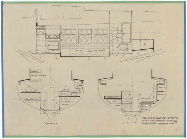 PLAN D'AMENAGEMENT  - THETIS (1950)