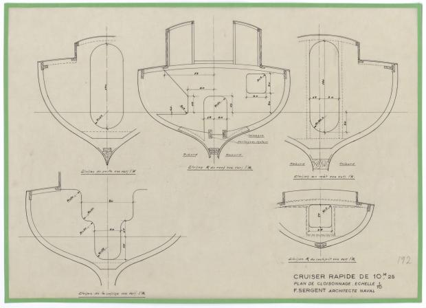 PLAN DE CONSTRUCTION - THETIS (1950)