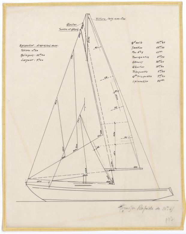 PLAN DE VOILURE/GREEMENT - THETIS (1950)