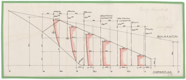 PLAN DE DERIVE/QUILLE - THETIS (1950)