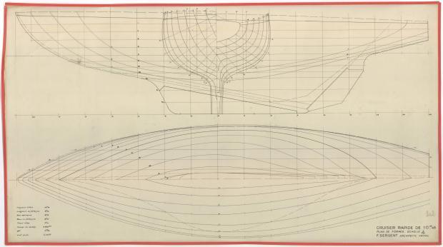 PLAN DE VOILURE/GREEMENT - AOUFA (1951)