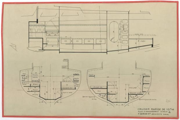 PLAN D'AMENAGEMENT  - AOUFA (1951)
