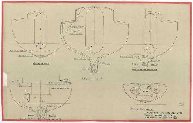 PLAN DE CONSTRUCTION - AOUFA (1951)