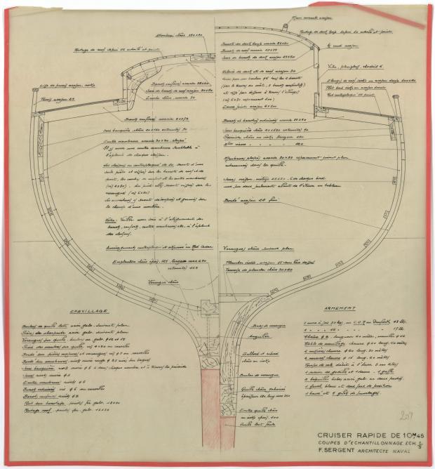 PLAN DE CONSTRUCTION - AOUFA (1951)