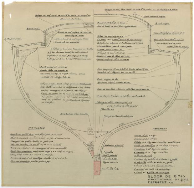 PLAN DE CONSTRUCTION - Sloop de 8,50 M (1951)