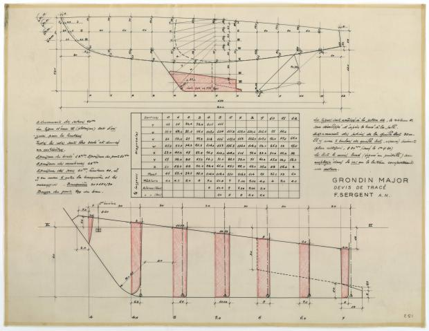 PLAN DE CONSTRUCTION - GRONDIN MAJOR (1952)