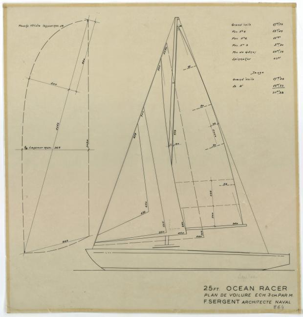 PLAN DE VOILURE/GREEMENT - AQUILON (1952)