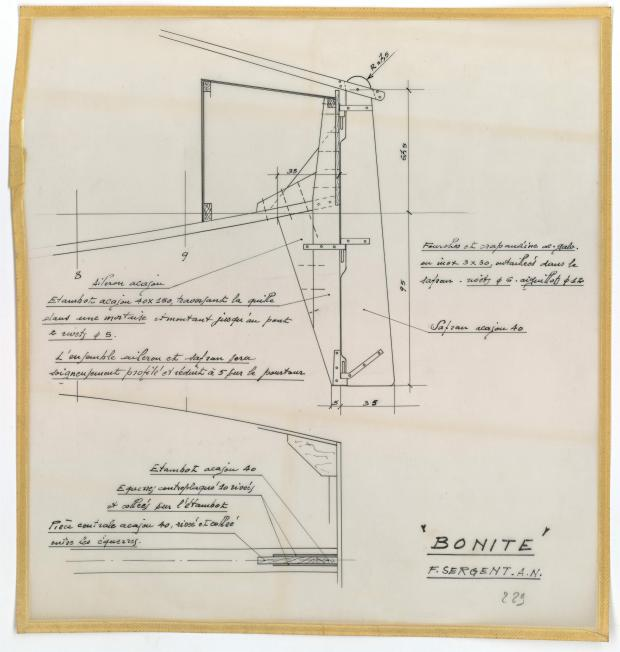 PLAN DE CONSTRUCTION - BONITE  (1952)