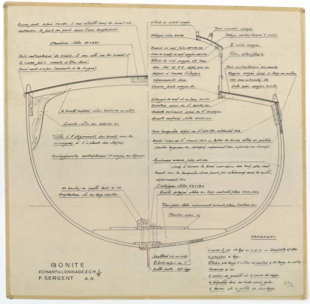 PLAN DE CONSTRUCTION - BONITE  (1952)