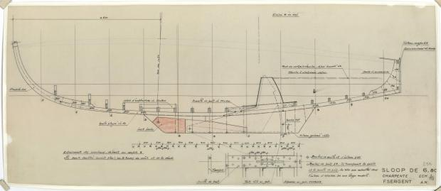 PLAN DE CONSTRUCTION - PHRYNE SLOOP DE 6,80 M (1953)