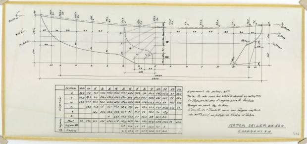 PLAN DE COQUE - Reder-mor, ketch 12,00m (1953)