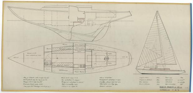 PLAN GENERAL - Ocean Racer 11,50 M (1953)