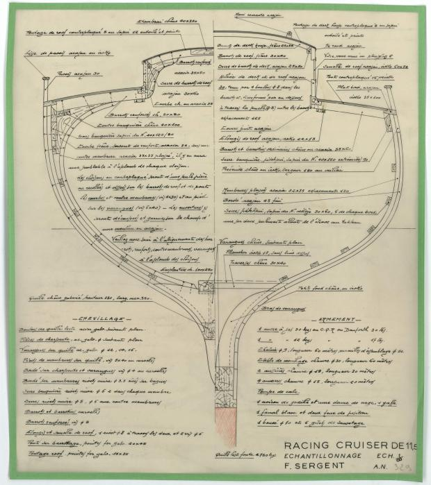 PLAN DE CONSTRUCTION - MELUSINE   (1953)