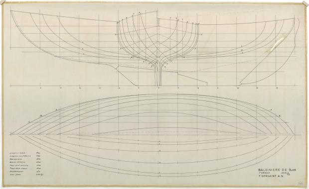 PLAN DE COQUE - St Michaël balenière de 9.25 m (1954)