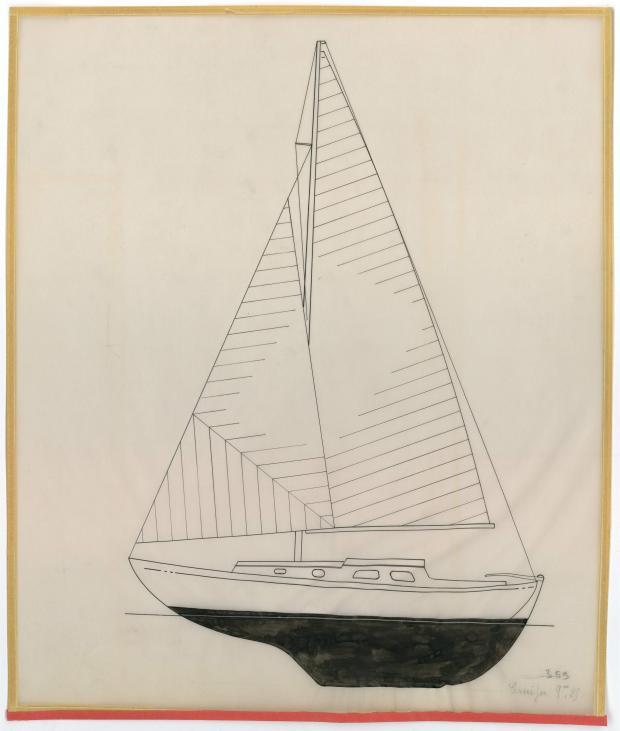 PLAN GENERAL - St Michaël balenière de 9.25 m (1954)