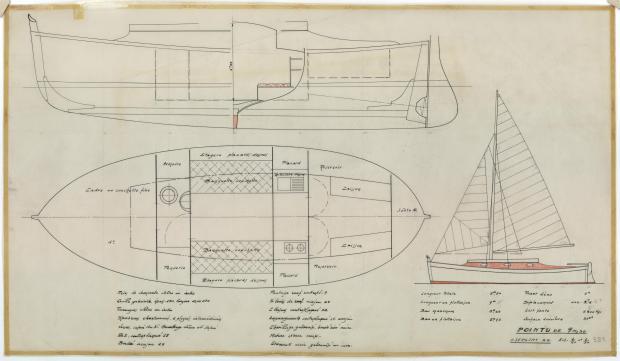 PLAN GENERAL - Pointu 9,50 m (1954)
