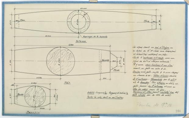 PLAN DE VOILURE/GREEMENT - Pointu 9,50 m (1954)