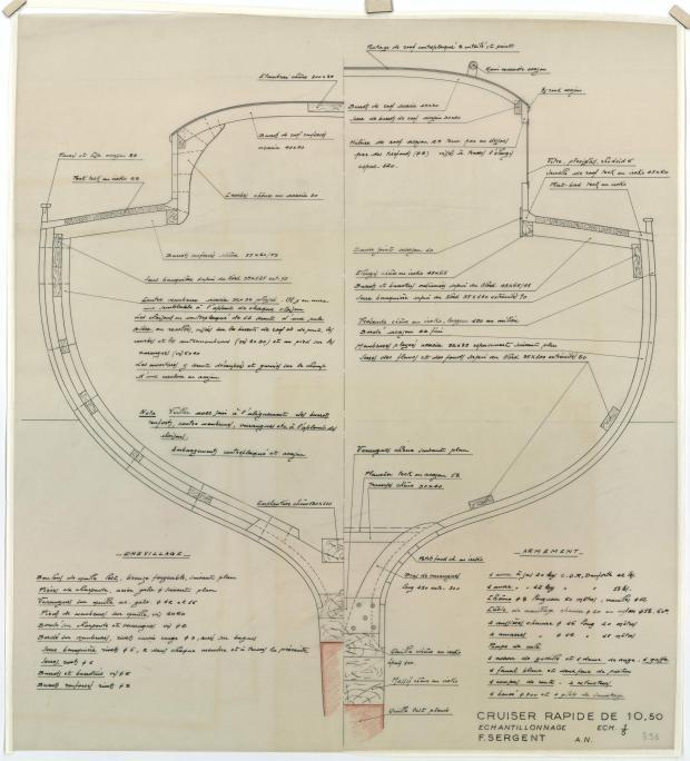 PLAN DE CONSTRUCTION - Guendalina 10,50 m (1954)