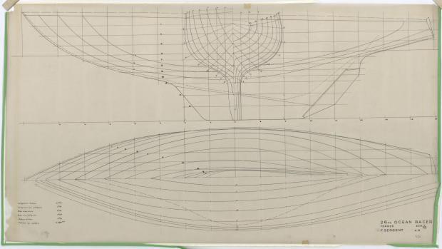 PLAN DE COQUE - OCEAN RACER 26 PIEDS FLOTTAISON (1955)