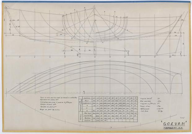 PLAN DE COQUE - GEOEVAN (1956)